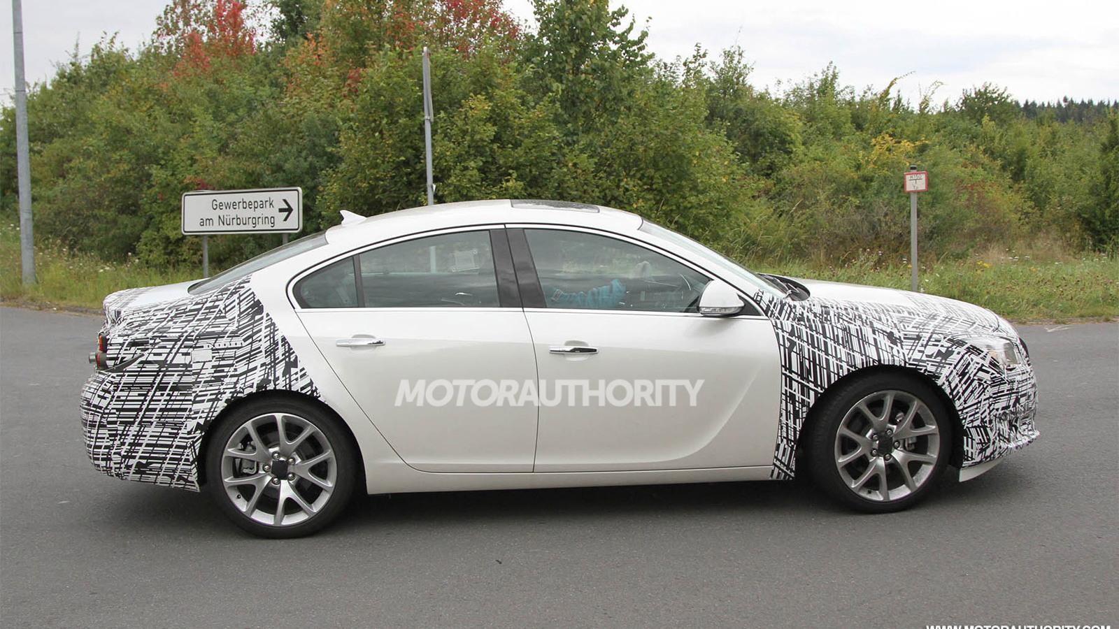 2014 Buick Regal facelift spy shots