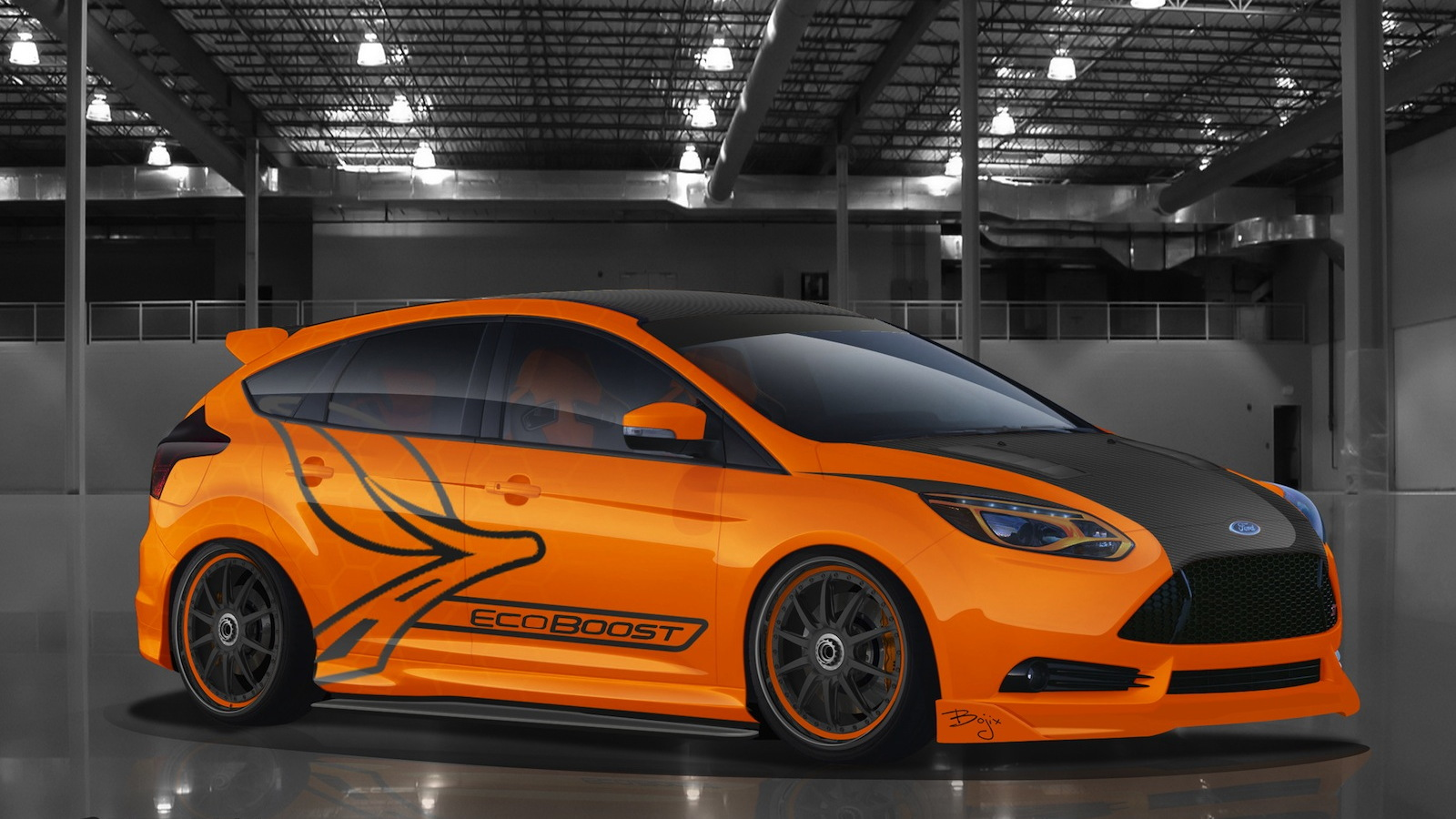 2013 Ford Focus ST built by Bojix Design for SEMA 2012