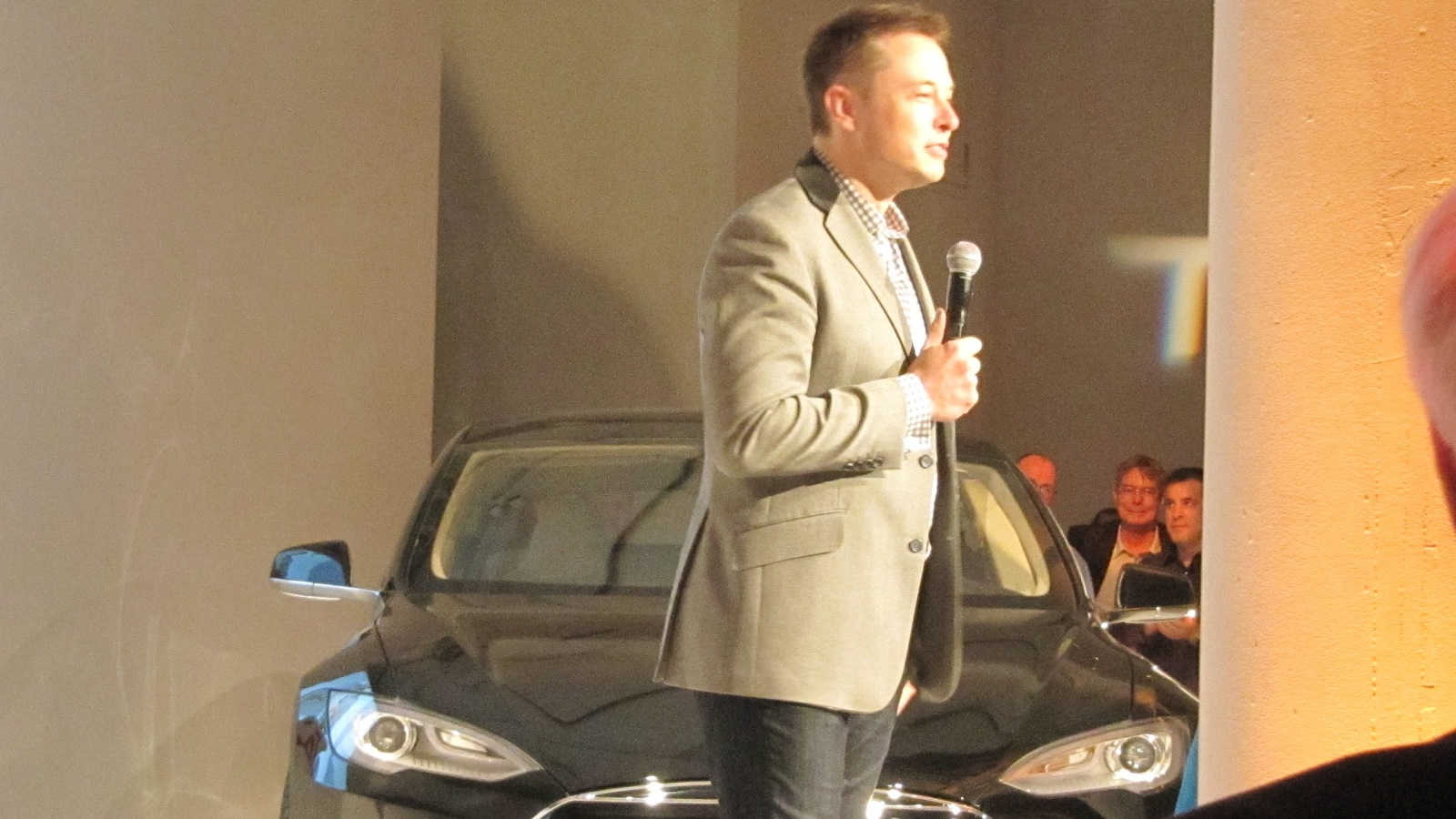 Tesla Motors CEO Elon Musk at Motor Trend 'Car of the Year' ceremony in New York City, Nov 2012