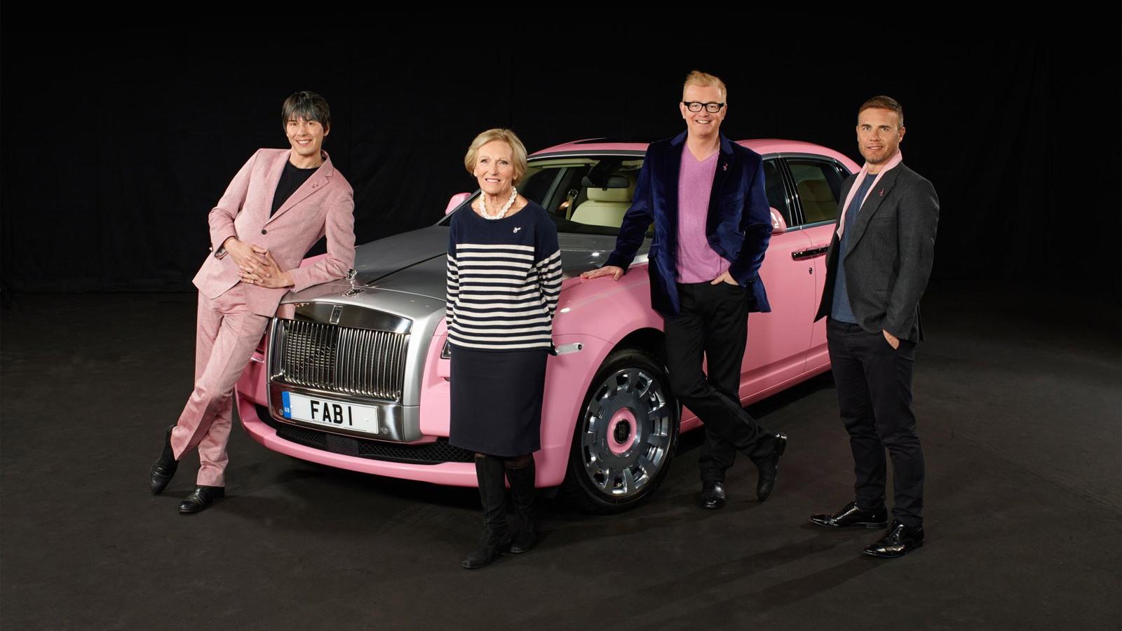 FAB1 pink Rolls-Royce Ghost Extended Wheelbase