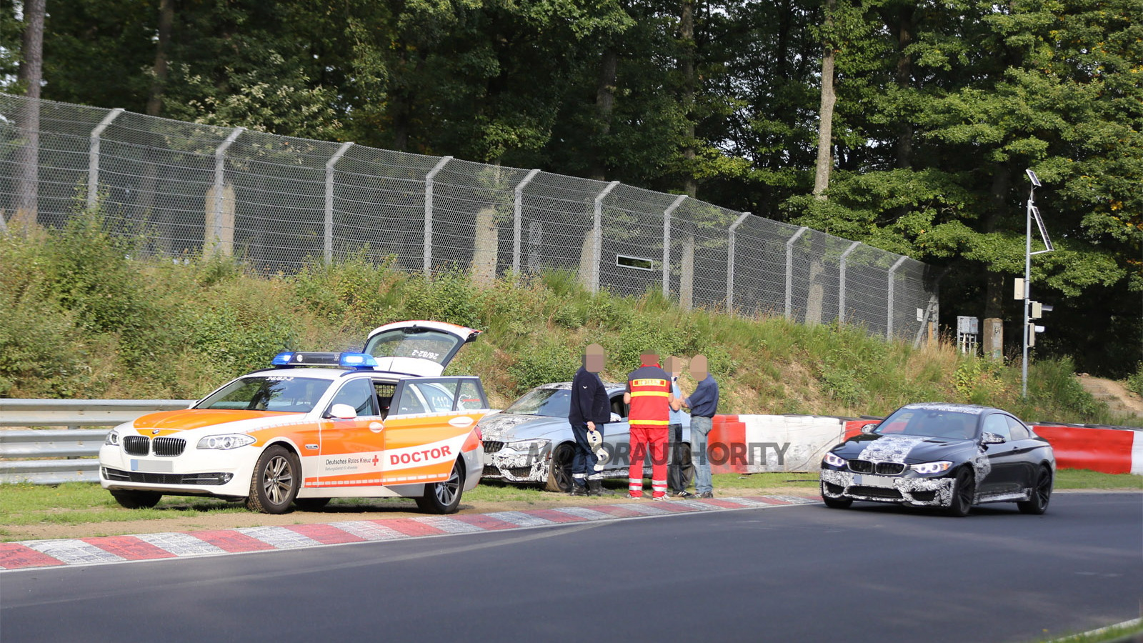 2014 BMW M3 Sedan crashed on the Nürburgring