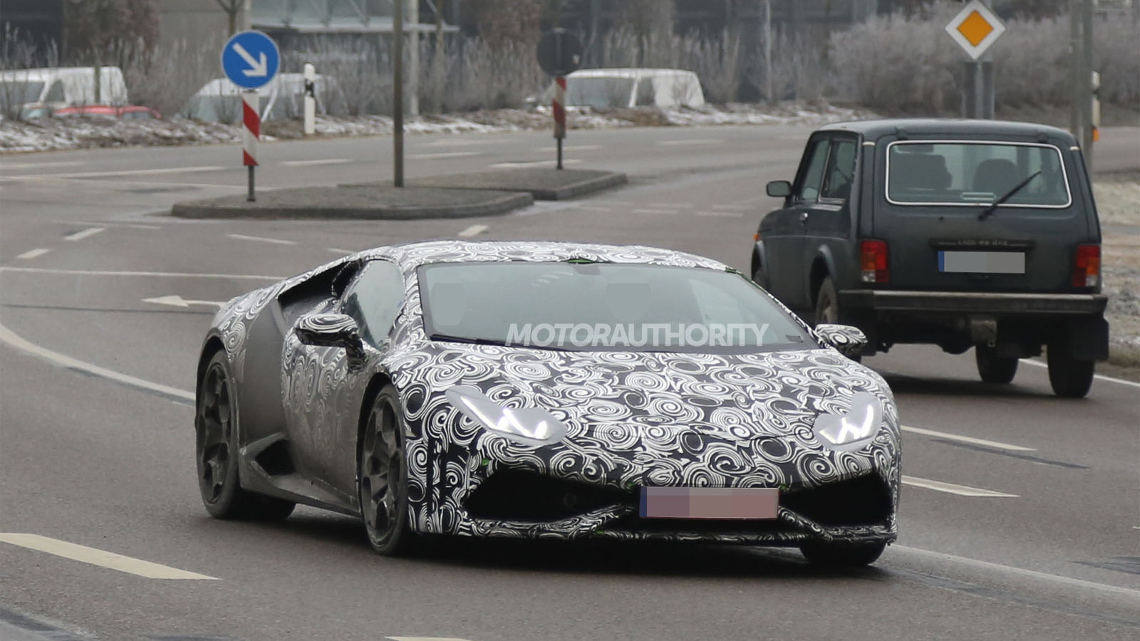 2015 Lamborghini Huracan (Gallardo replacement) spy shots