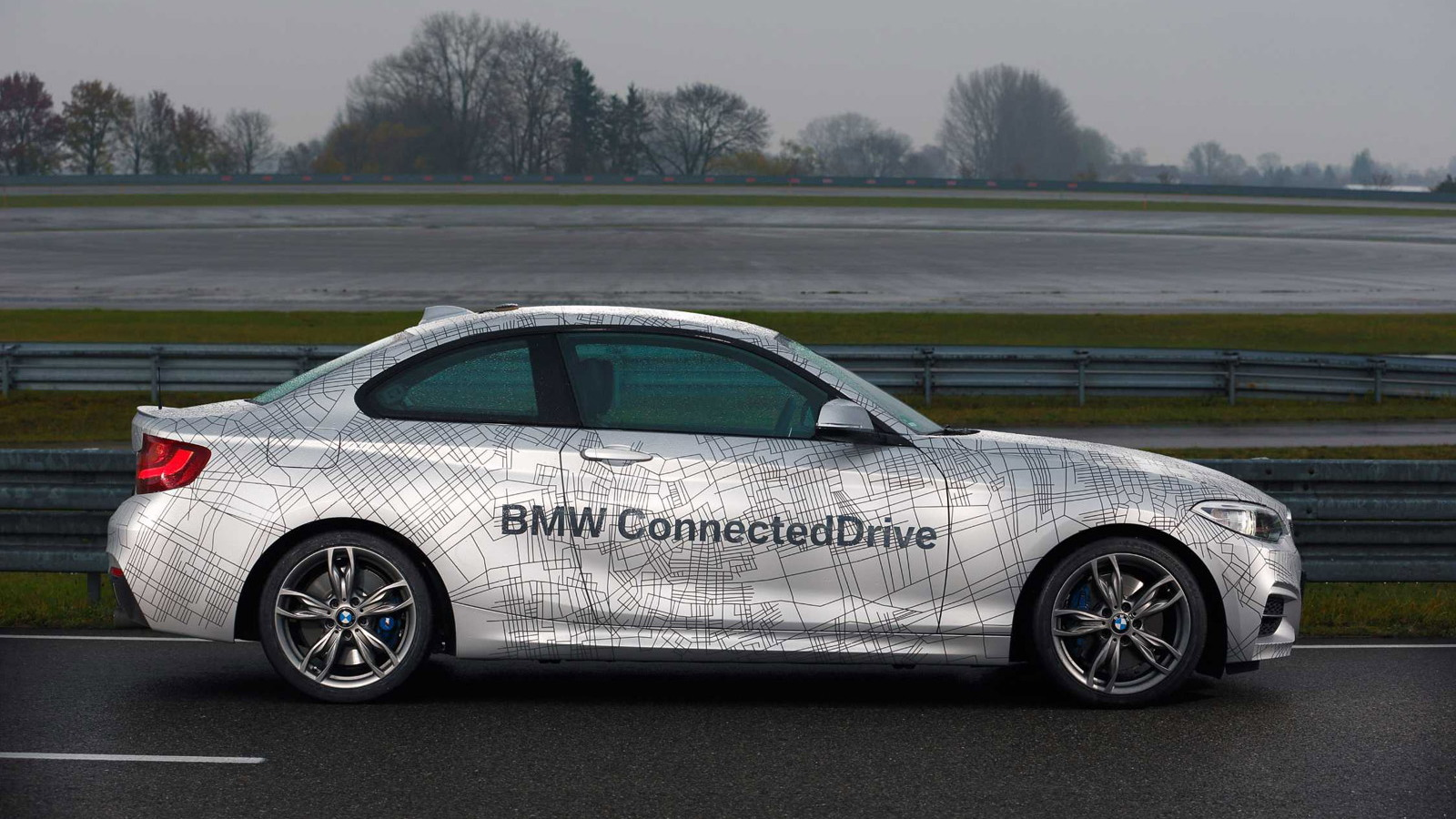BMW 2-Series ConnectedDrive prototype demonstrating ActiveAssist, 2014 Consumer Electronics Show