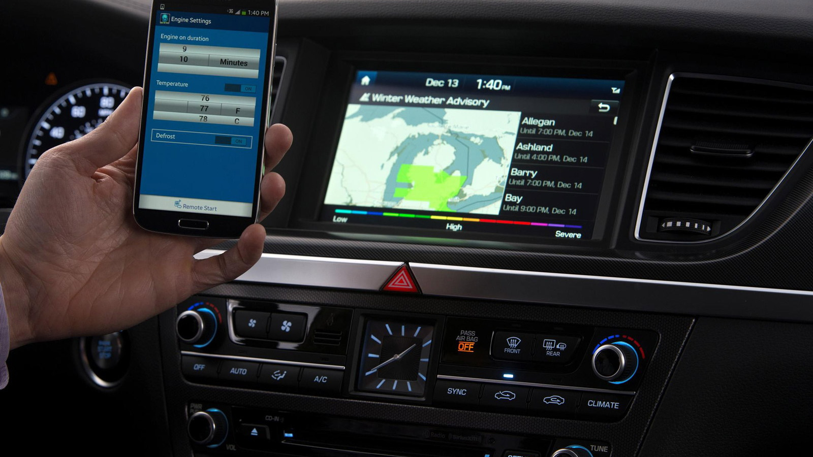Hyundai next-generation Blue Link interface