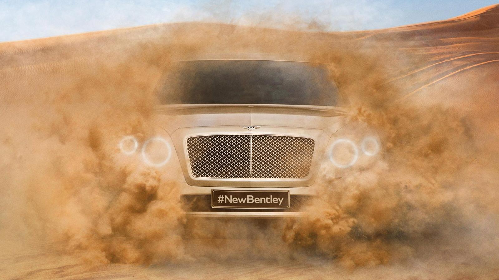 Teaser for Bentley's SUV