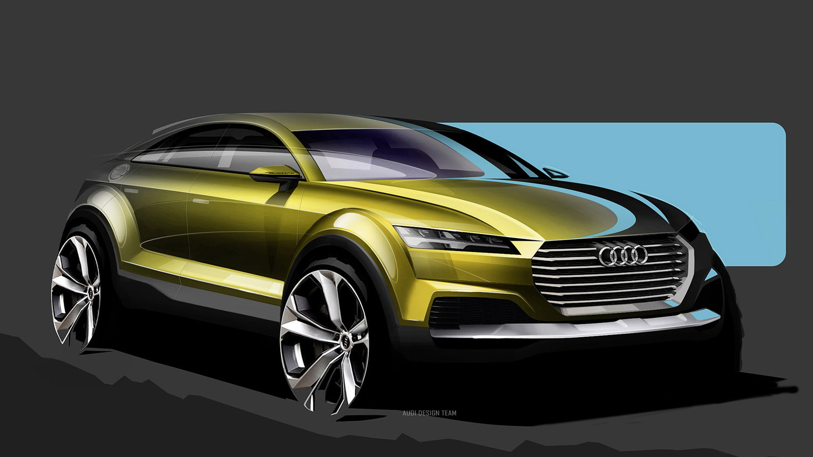 Teaser sketch for new Audi TT-based crossover concept
