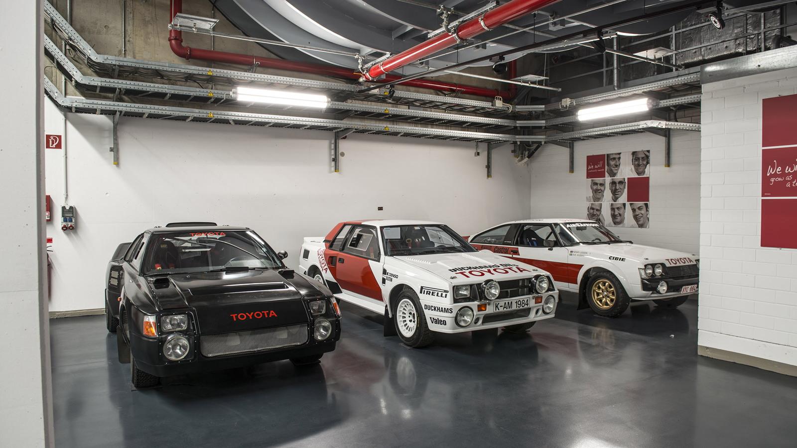 Toyota Rally Heritage: 1985 Group S concept, 1983 Celica TA64, 1979 Celica RA40