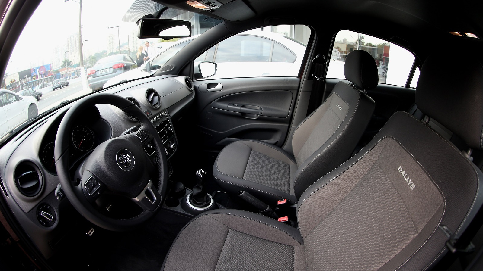 Interior of Volkswagen Gol, Brazilian flex-fuel vehicle