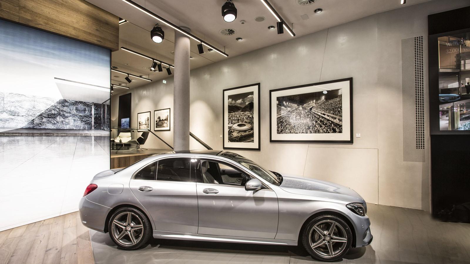 Mercedes me brand store in Hamburg, Germany