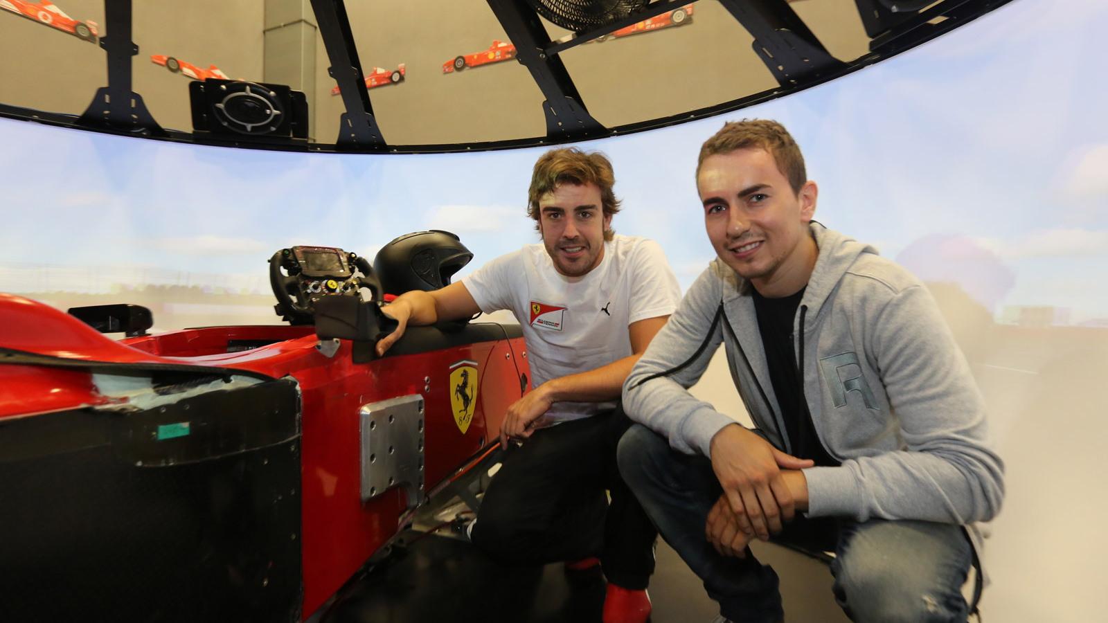 Fernando Alonso and Jorge Lorenzo