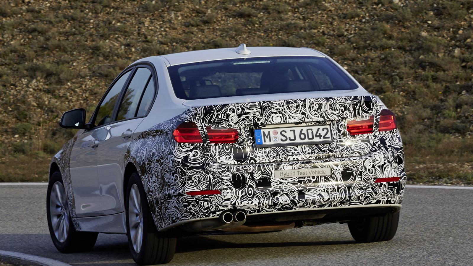 2016 BMW 3-Series eDrive plug-in hybrid prototype