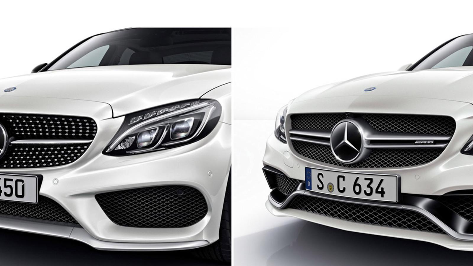 Mercedes-Benz C-Class AMG Sport (left) versus Mercedes-AMG C63
