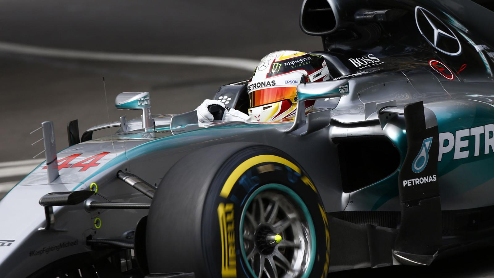 Mercedes AMG's Lewis Hamilton at the 2015 Formula One Monaco Grand Prix Pole
