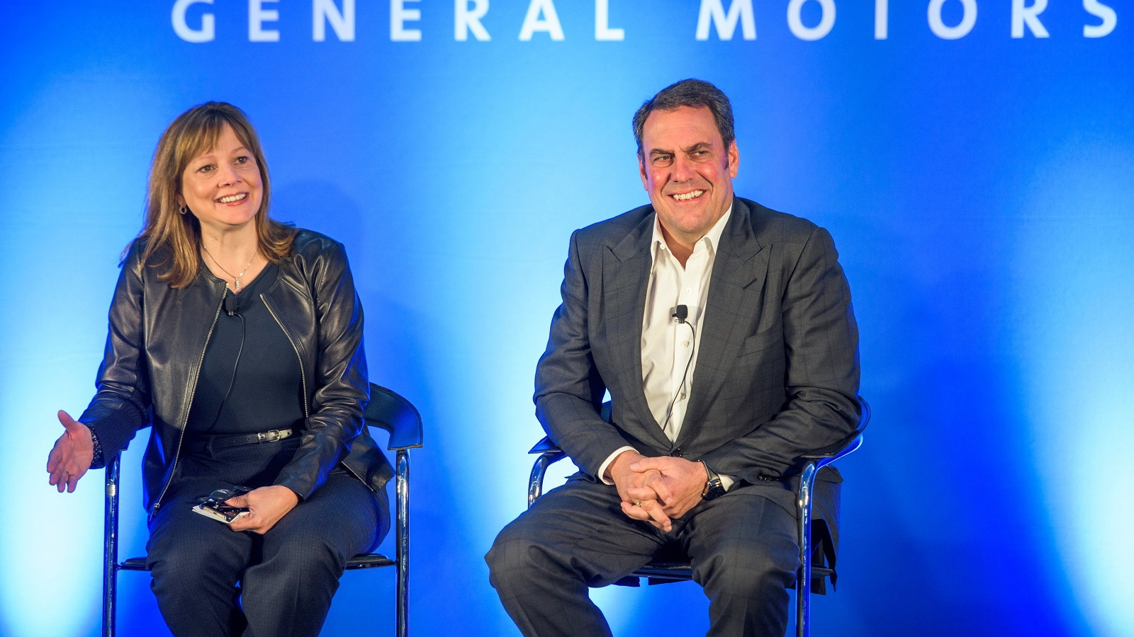 General Motors CEO Mary Barra and GM Executive Vice President Mark Reuss