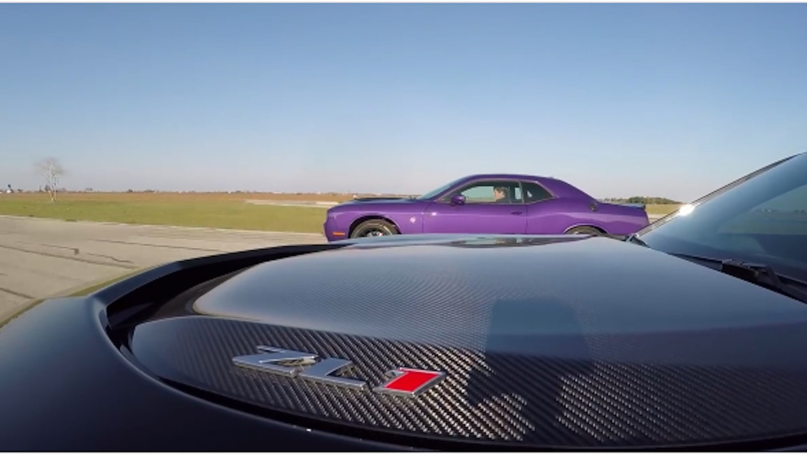 No more talking 2017 dodge challenger hellcat vs the 2017 chevy camaro zl1