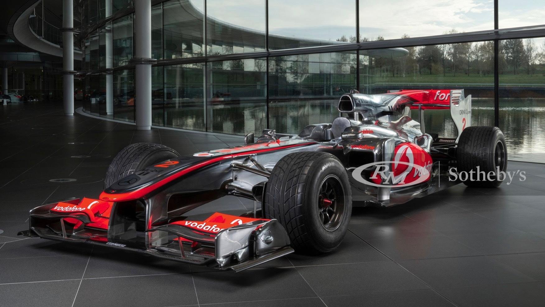 2010 McLaren-Mercedes MP4-25A Formula One car driven by Lewis Hamilton (Photo by RM Sotheby's)
