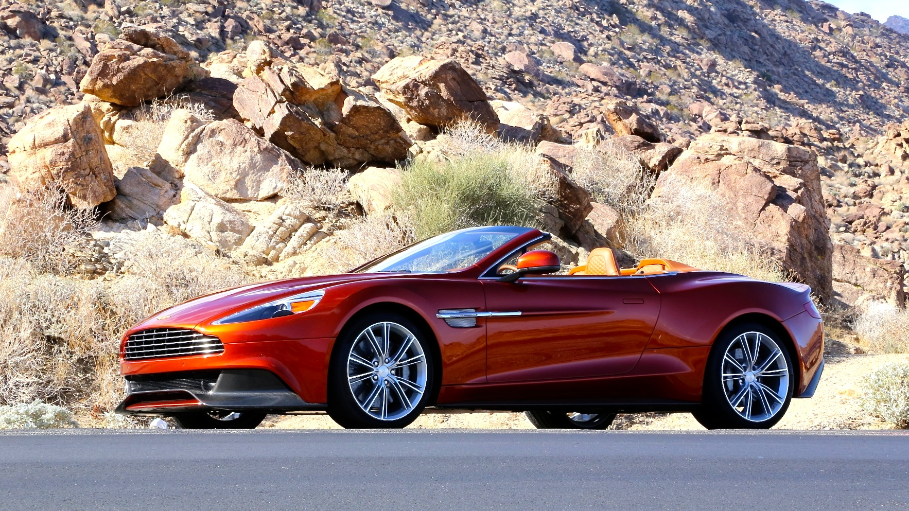 2014 Aston Martin Vanquish Volante  first drive, Palm Springs