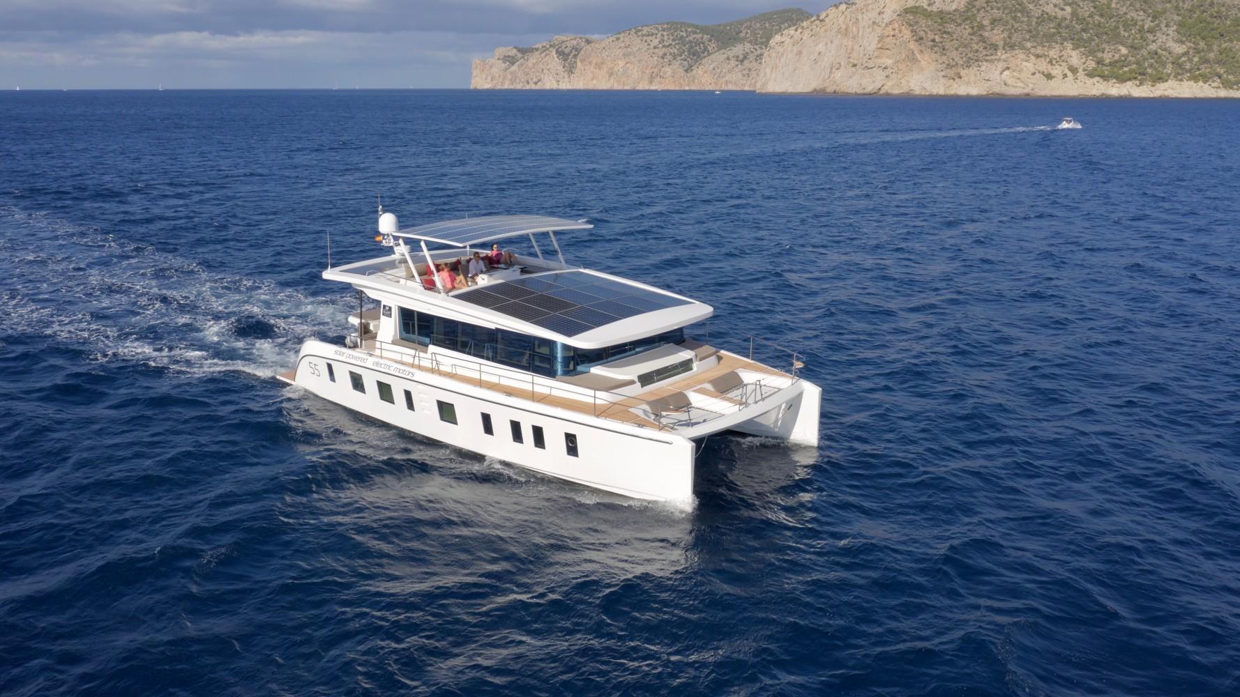 Silent 55 solar-supplemented catamaran