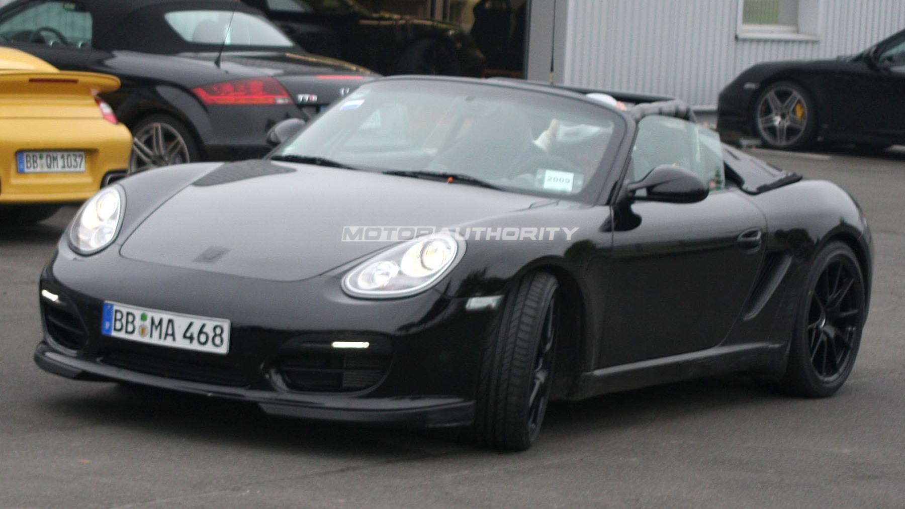 Porsche Boxster Speedster spy shots