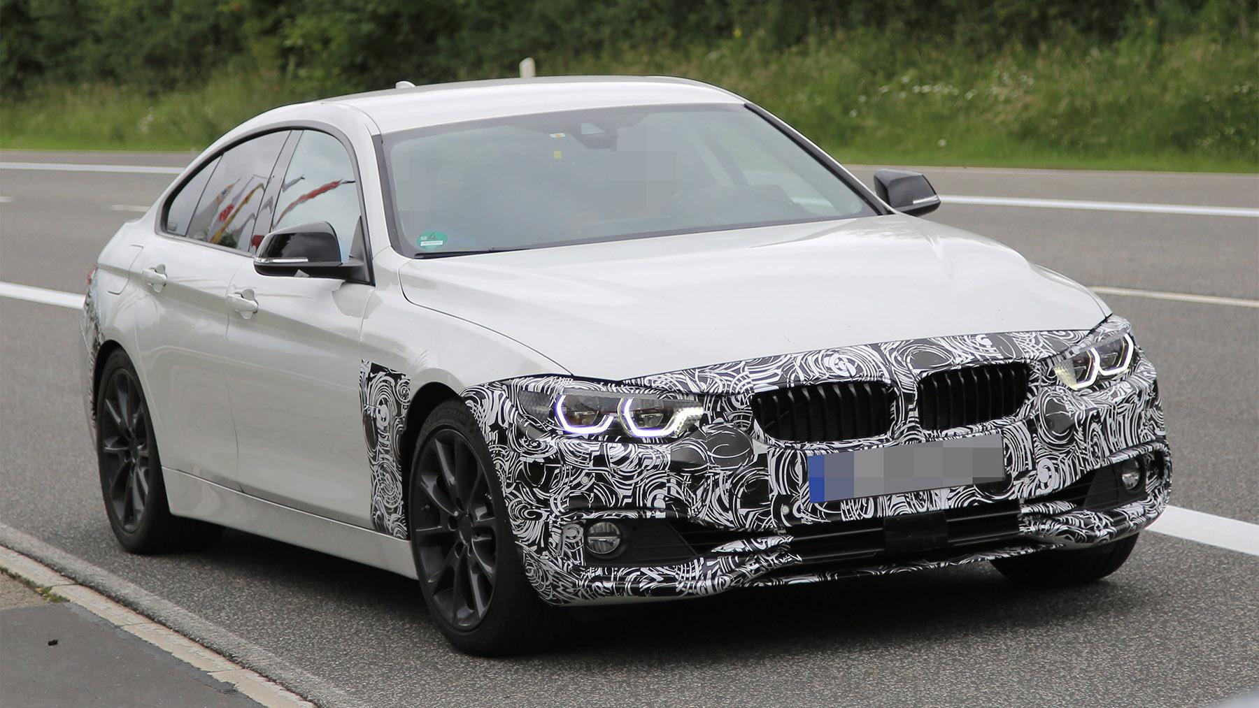 2018 BMW 4-Series Gran Coupe facelift spy shots - Image via S. Baldauf/SB-Medien