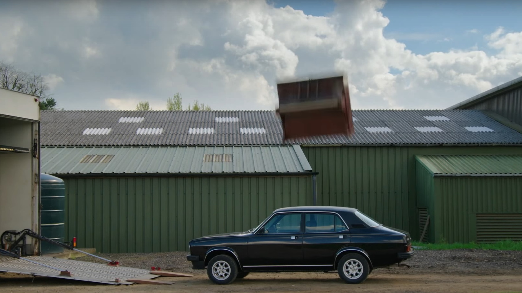 1980 Morris Marina 1700HL onto which Jeremy Clarkson dropped a piano from a crane