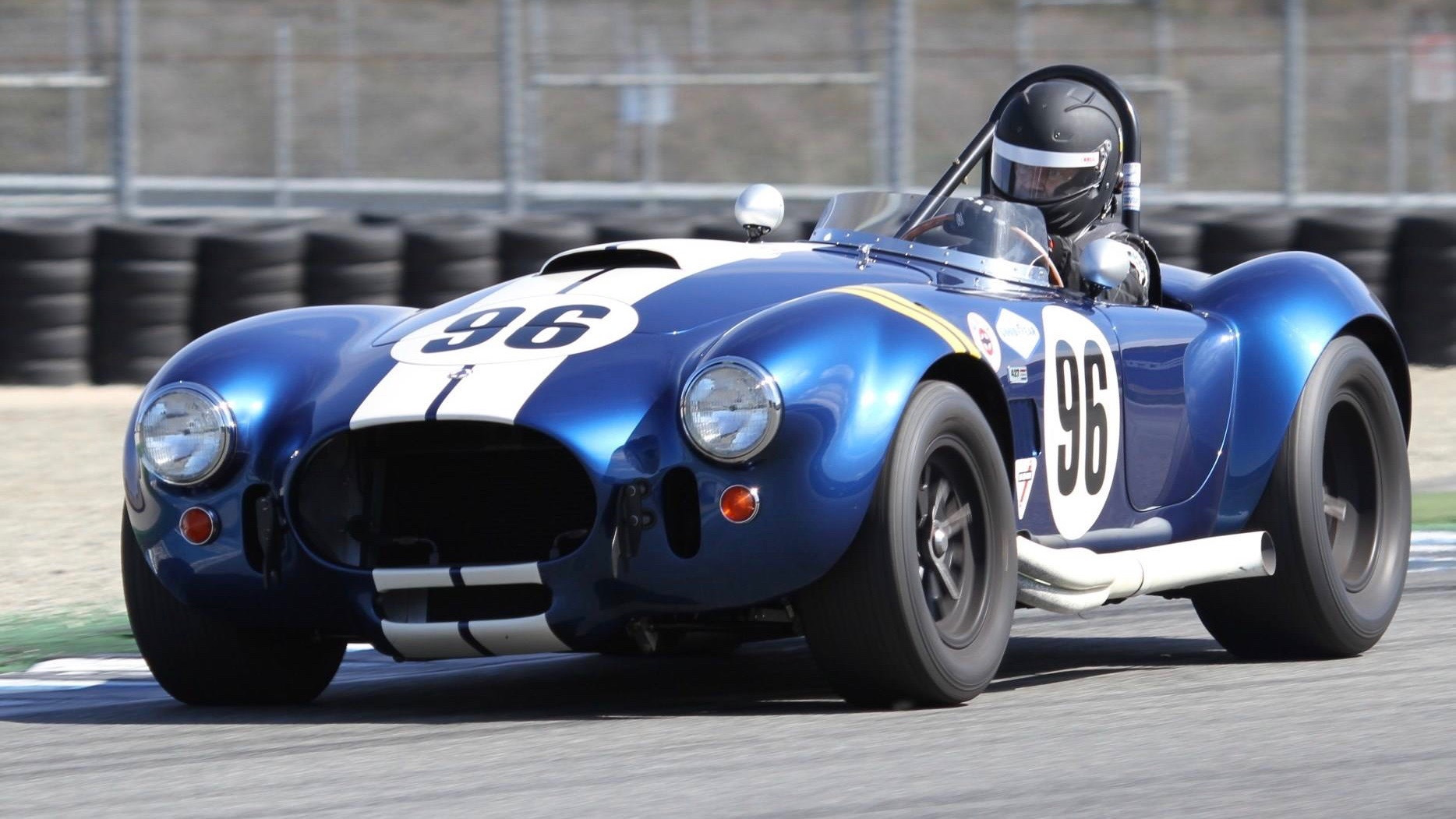 Ford CEO Jim Farley racing his Shelby Cobra
