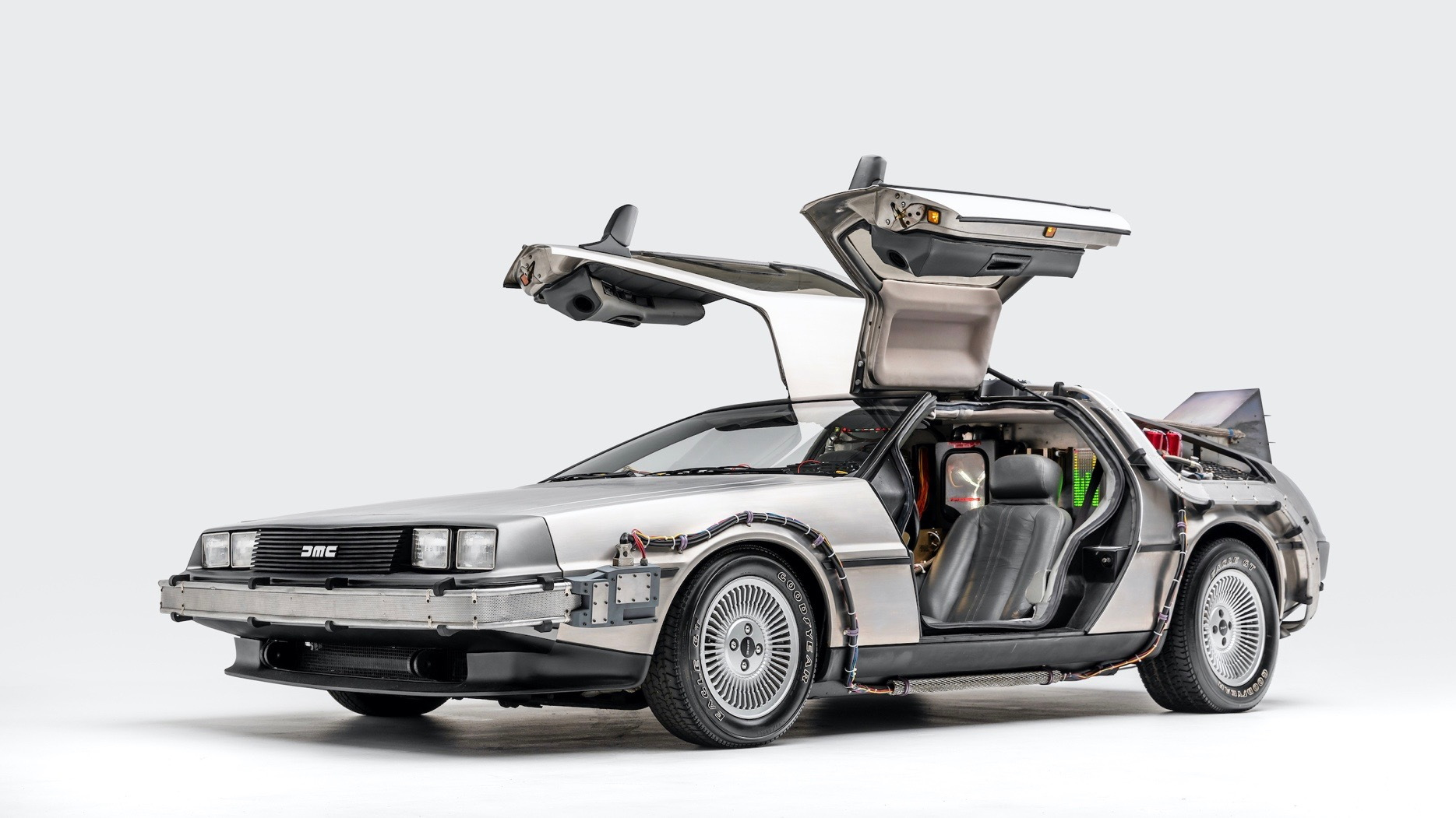 """DeLorean time machine from """"Back to the Future"""" (Photo by Petersen Automotive Museum)"""