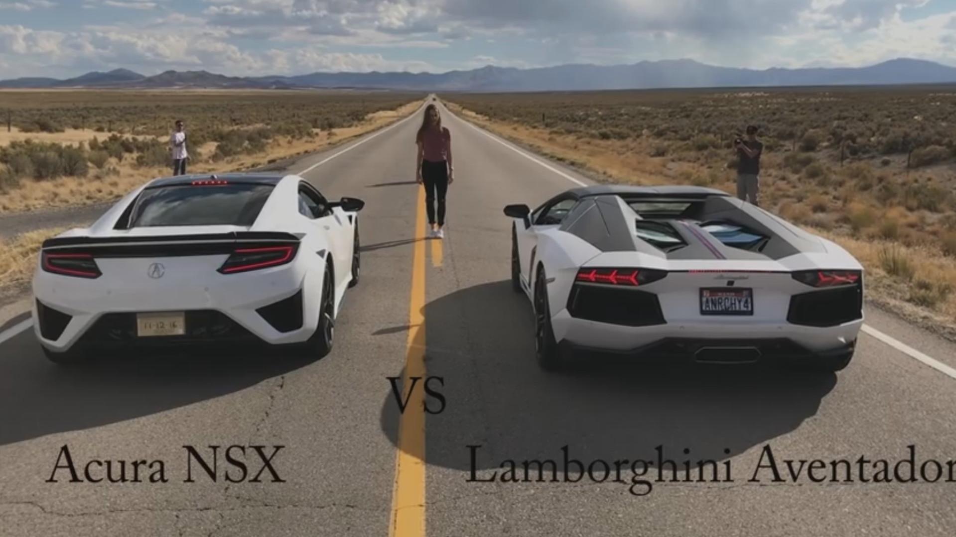Exotic Revolution Acura NSX vs. Lamborghini Aventador