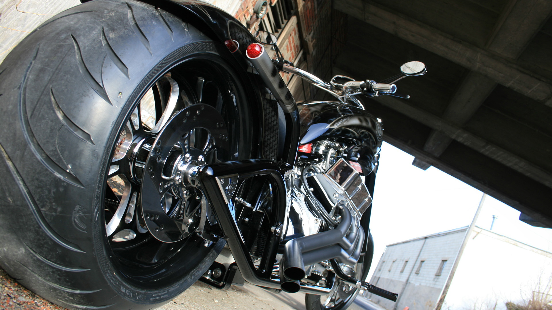V-8 Choppers Chevy V-8-powered motorcycle -- image via Serious Wheels