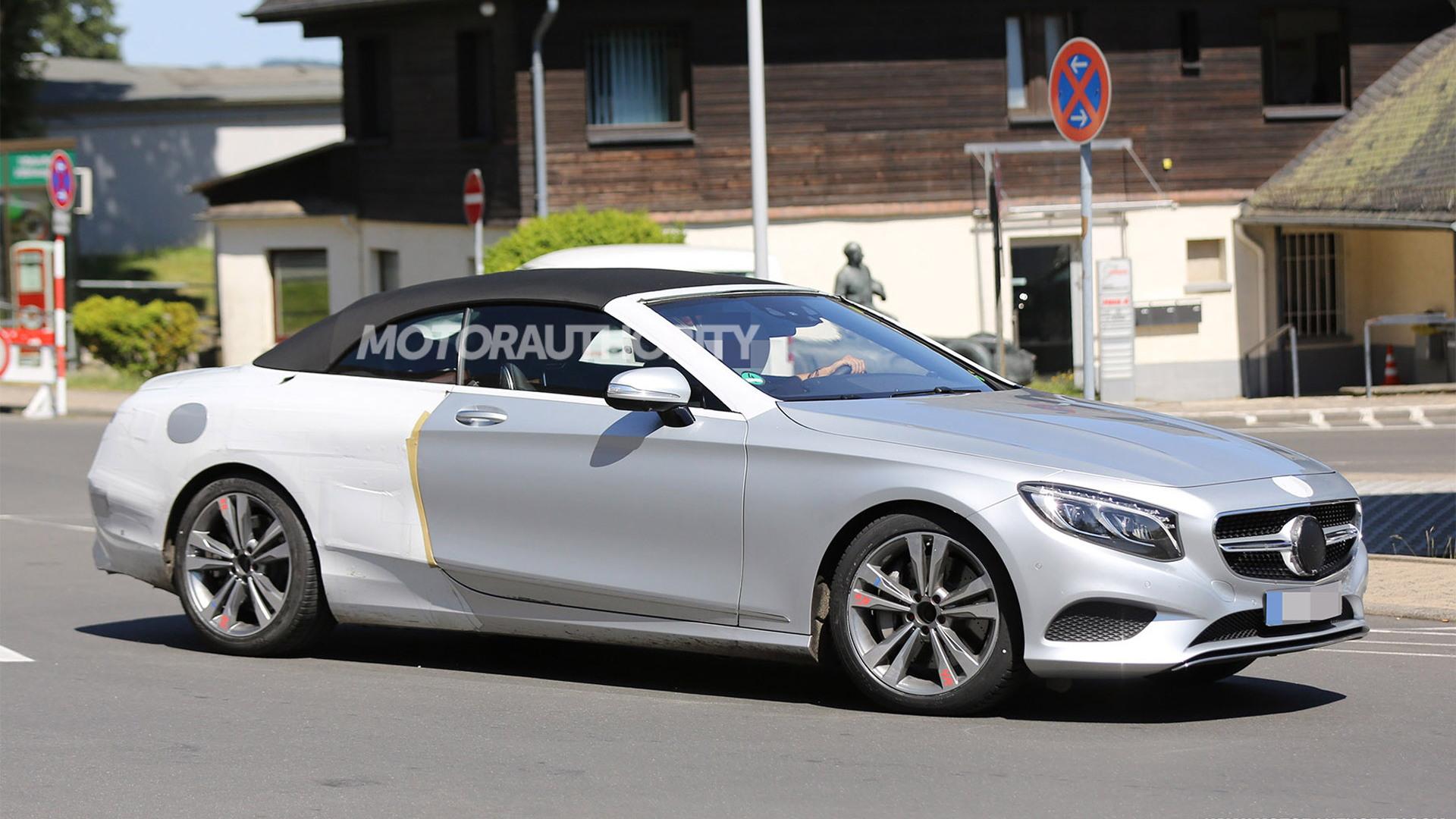 2017 Mercedes-Benz S-Class Cabriolet spy shots - Image via S. Baldauf/SB-Medien