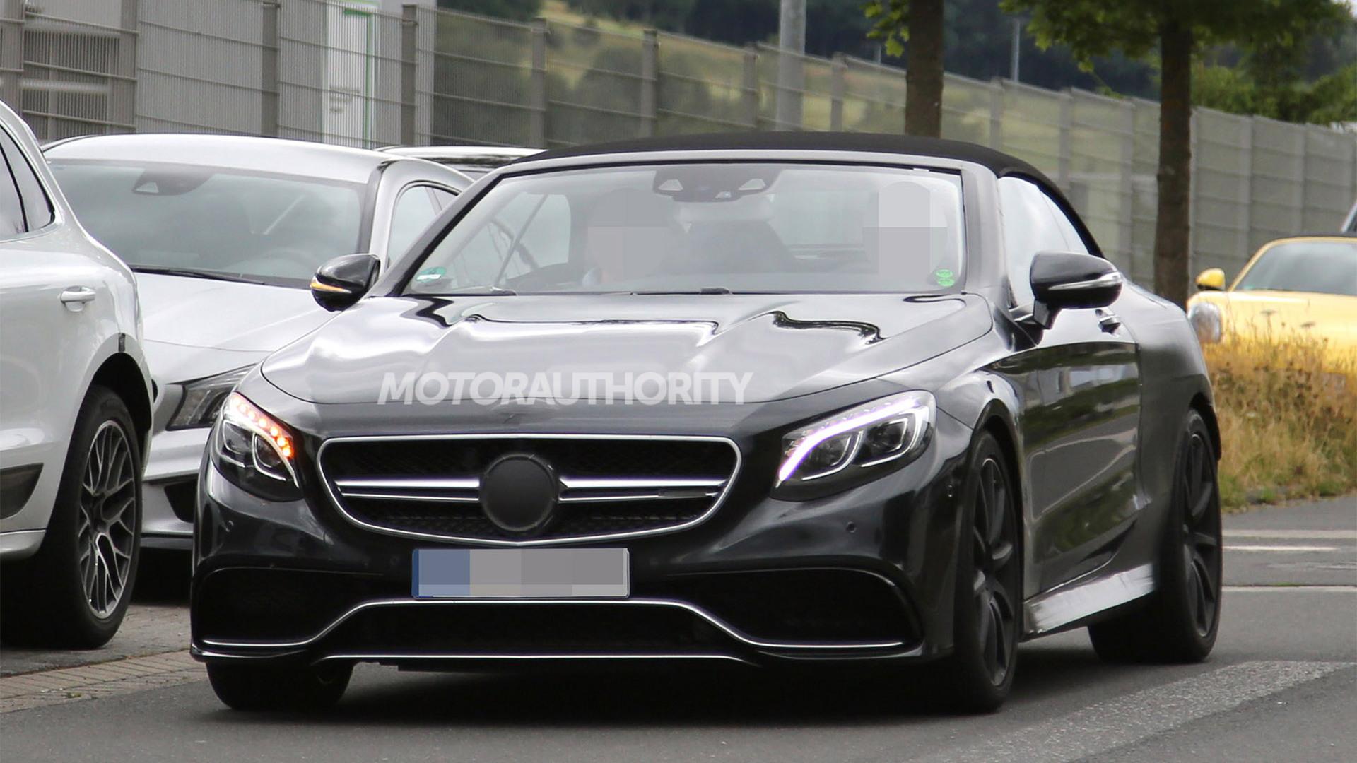 2017 Mercedes-AMG S63 Cabriolet spy shots - Image via S. Baldauf/SB-Medien