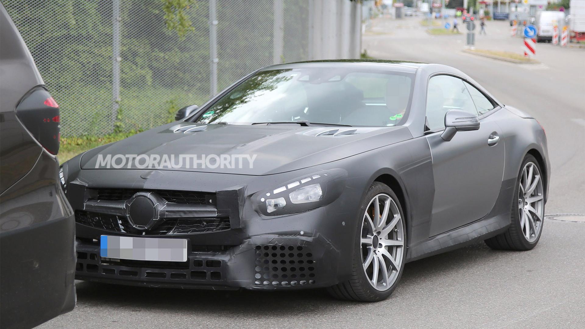 2017 Mercedes-AMG SL63 facelift spy shots - S. Baldauf/SB-Medien