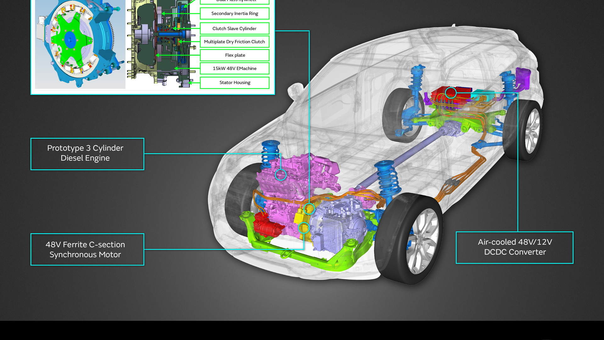 Jaguar Land Rover mild hybrid concept