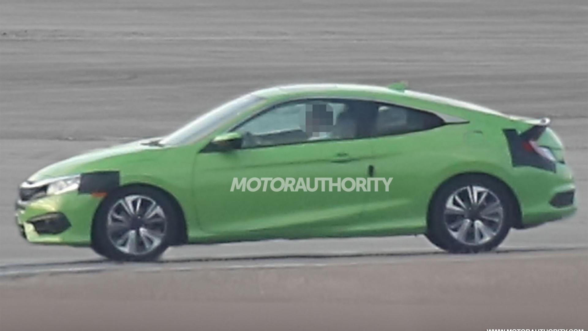 2016 Honda Civic Coupe spy shots - Image via S. Baldauf/SB-Medien