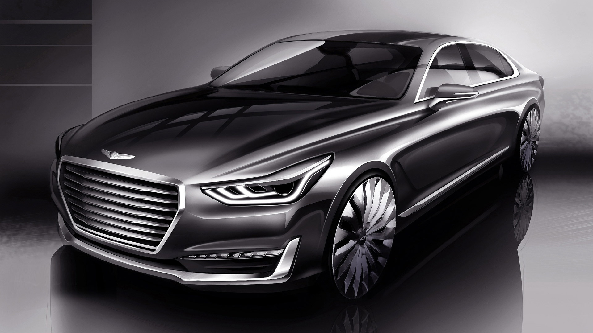 Genesis G90 The Replacement For The Hyundai Equus Teased