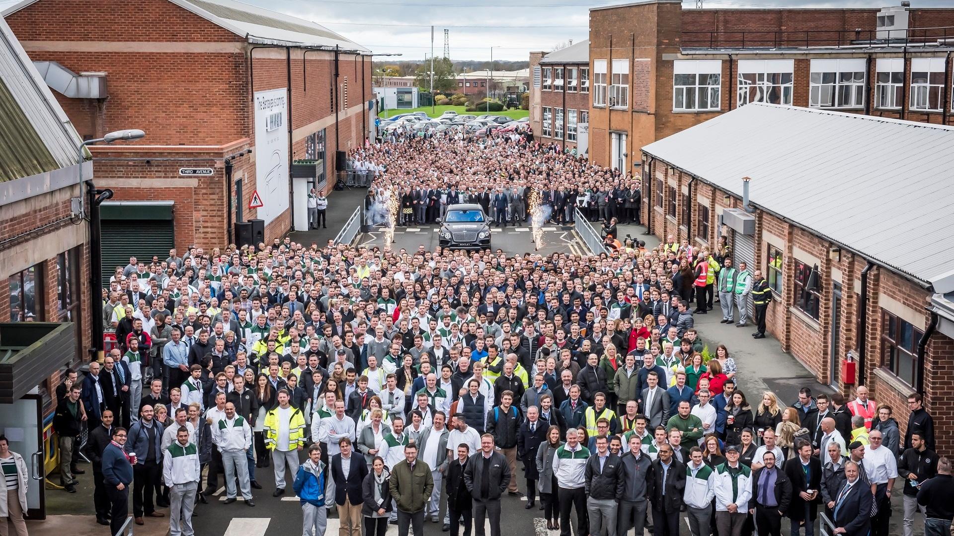 First Bentley Bentayga rolls off Crewe assembly line