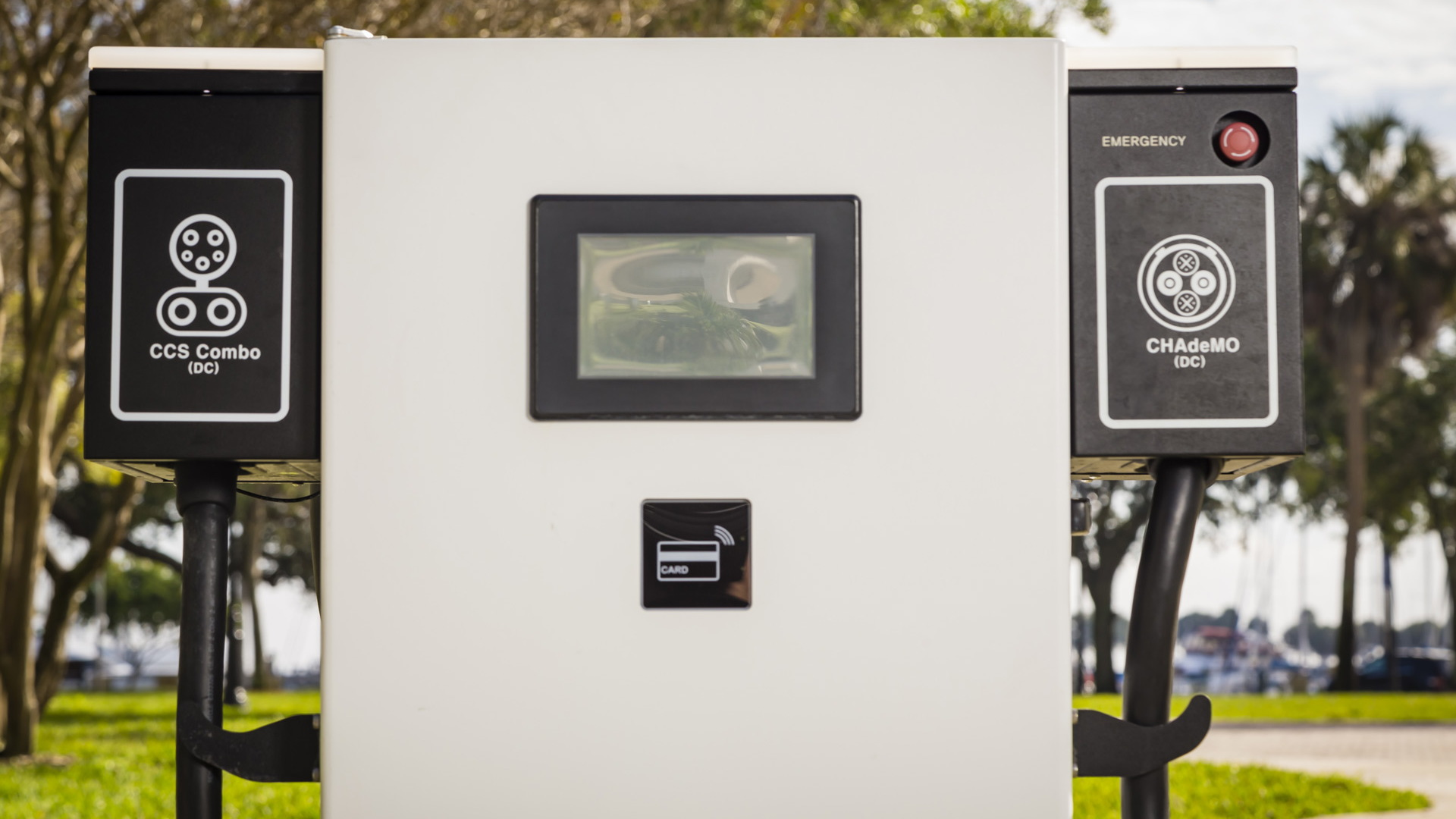BMW and Nissan electric car fast-charging station