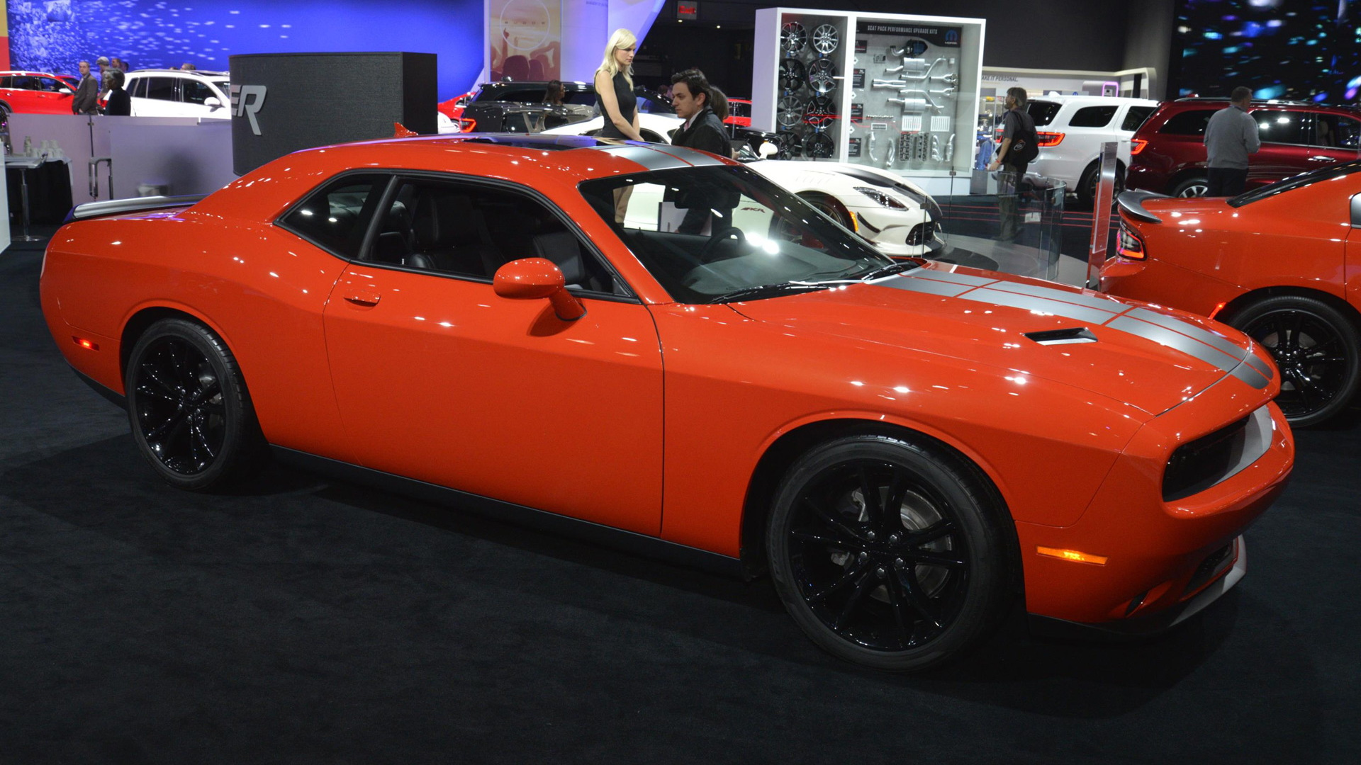 2016 Dodge Challenger and Charger in Go Mango, 2016 New York Auto Show
