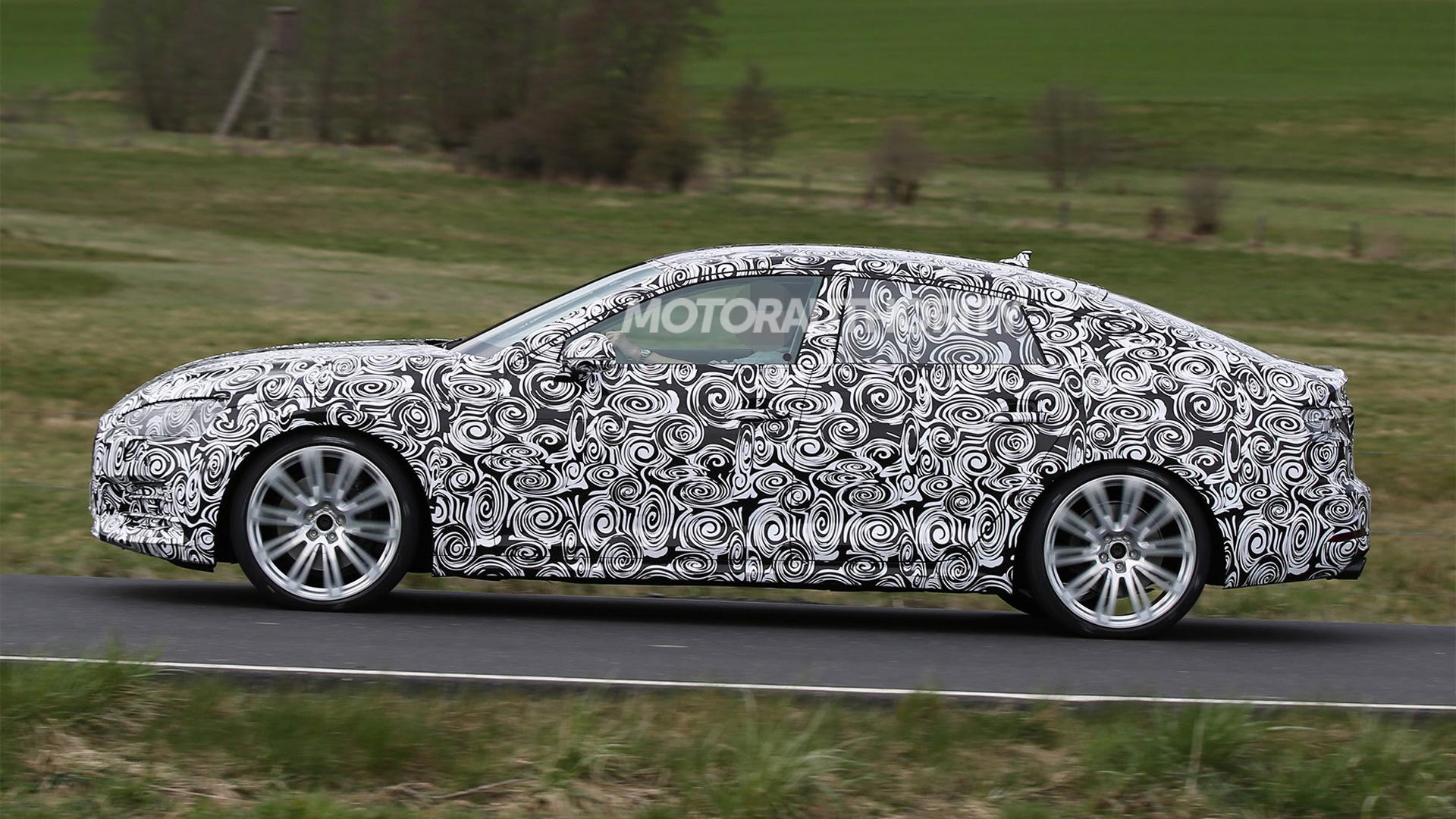 2018 Audi S5 Sportback spy shots - Image via S. Baldauf/SB-Medien