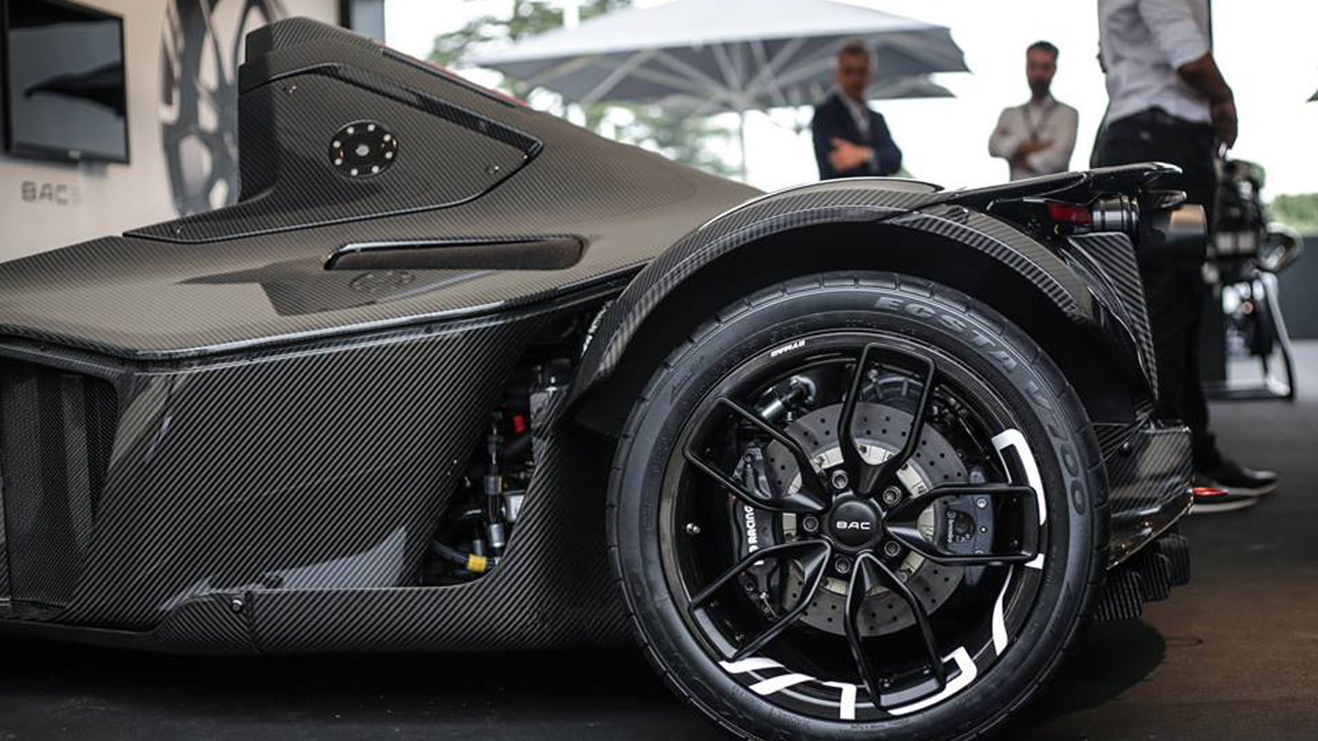 2016 BAC Mono fitted with rear wheel arches made from graphene