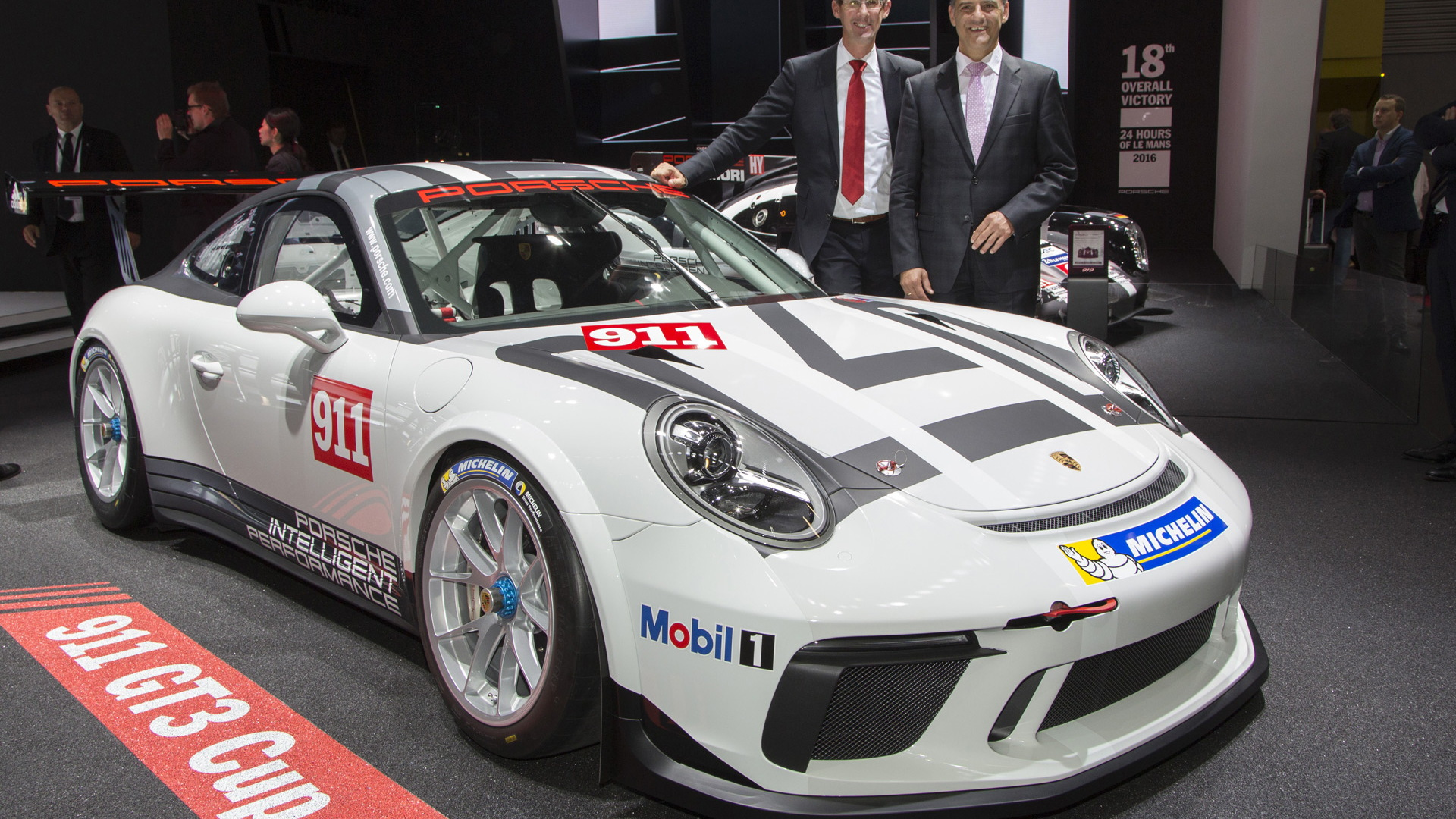 2017 Porsche 911 GT3 Cup race car, 2016 Paris auto show