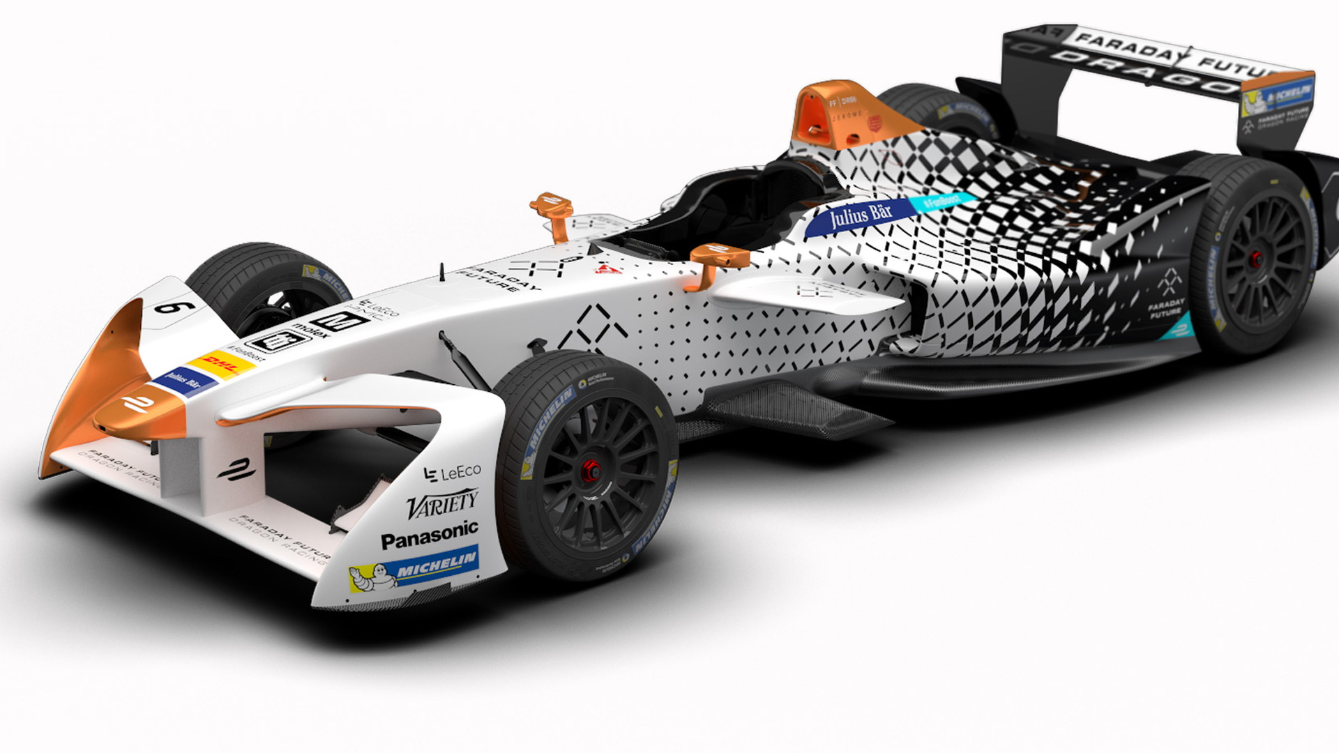 2016/2017 Faraday Future Dragon Racing Formula E race car