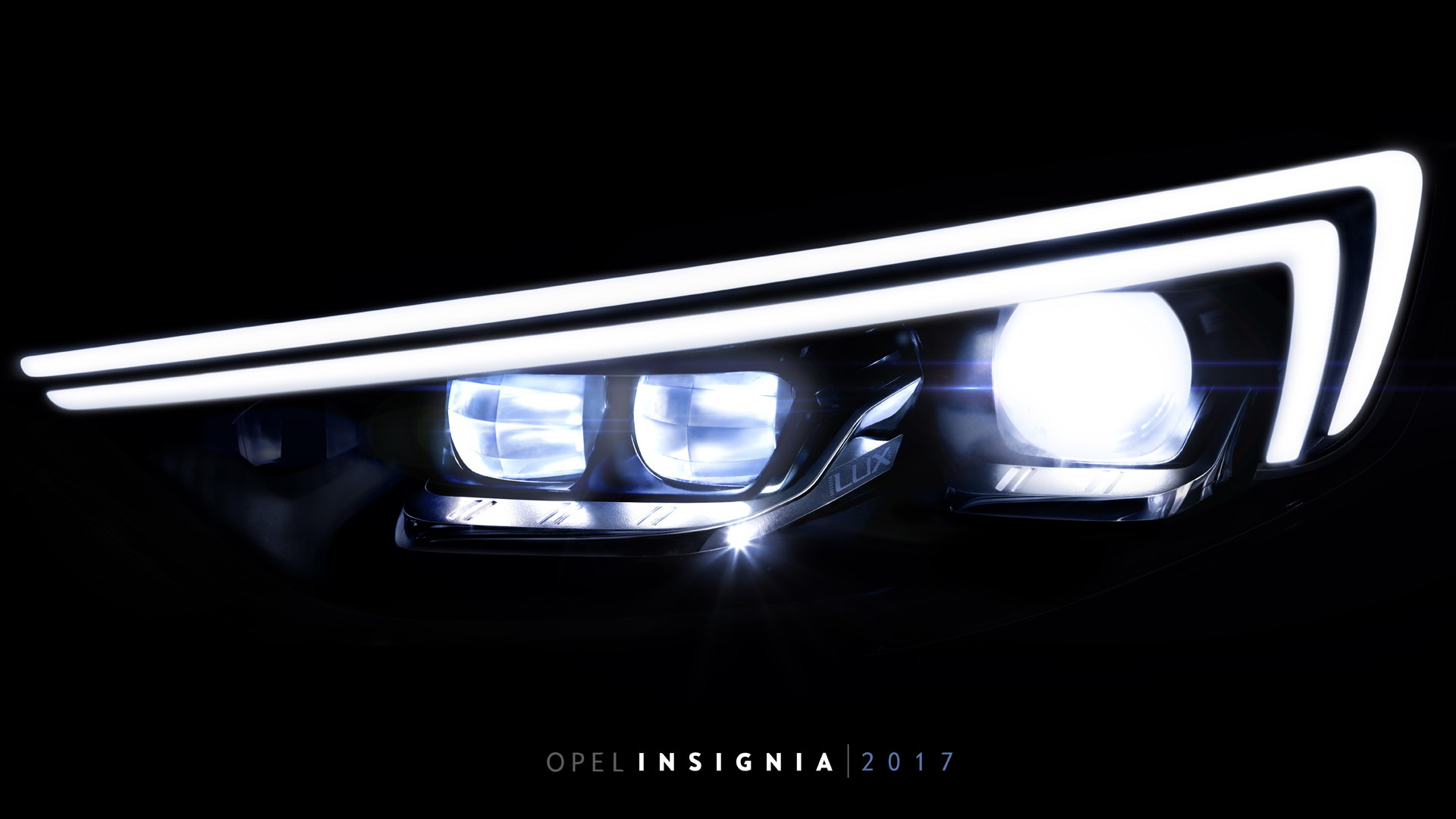 Teaser for 2017 Opel Insignia Grand Sport debuting at 2017 Geneva auto show