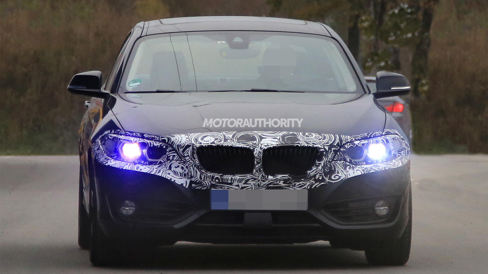 2018 BMW 2-Series facelift spy shots - Image via S. Baldauf/SB-Medien
