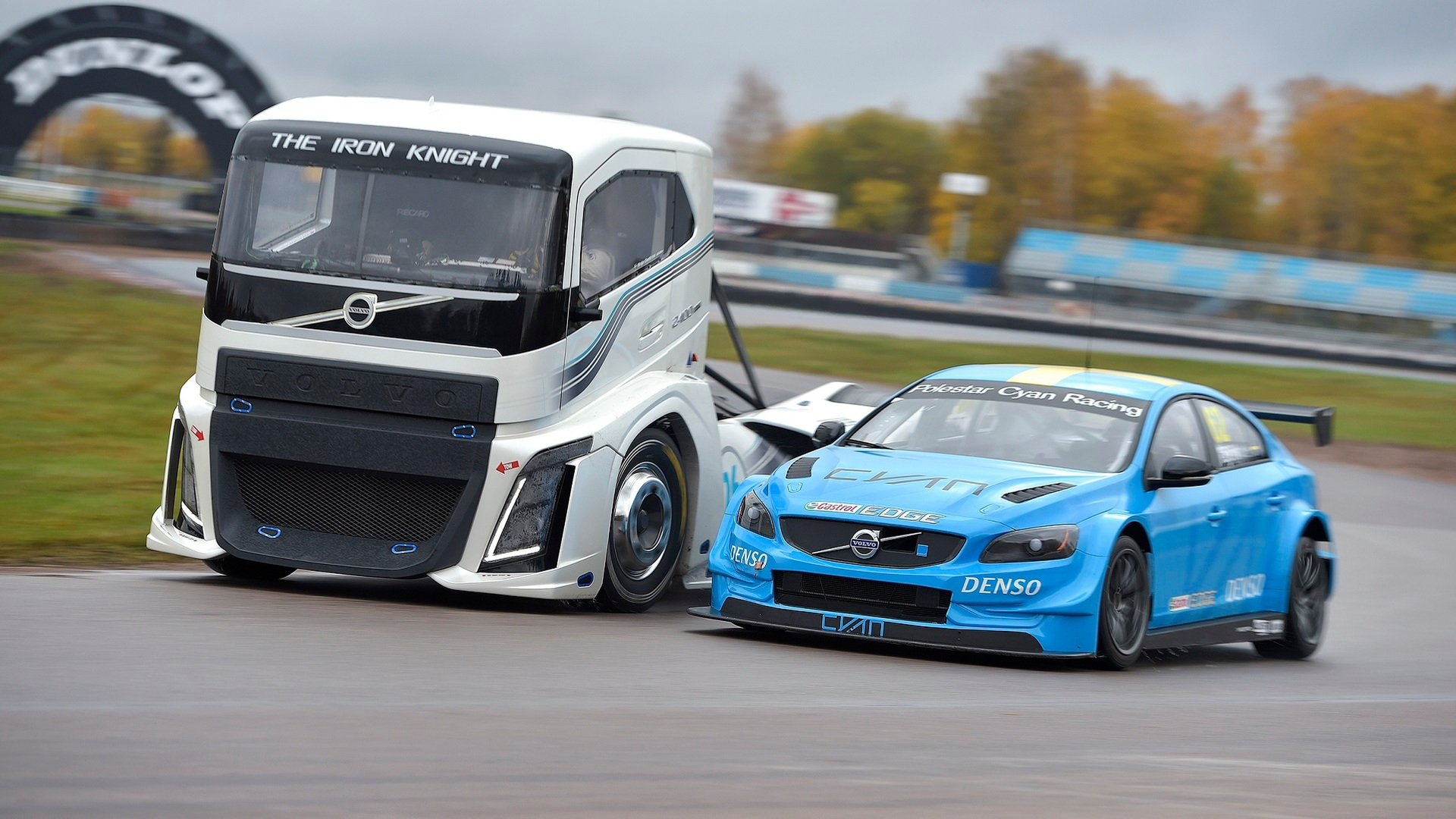 Volvo Trucks  Iron Knight vs. S60 Polestar TC1