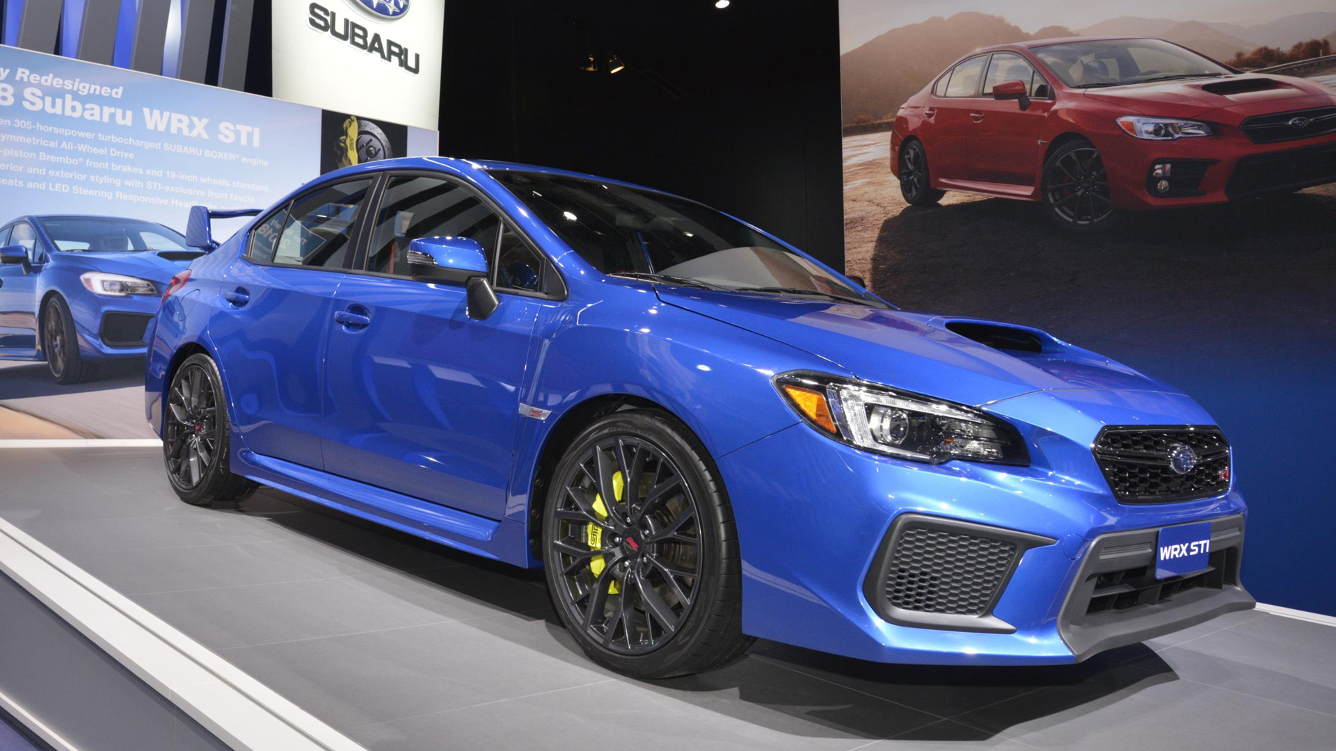 2018 subaru wrx and wrx sti debut at 2017 detroit auto show. Black Bedroom Furniture Sets. Home Design Ideas