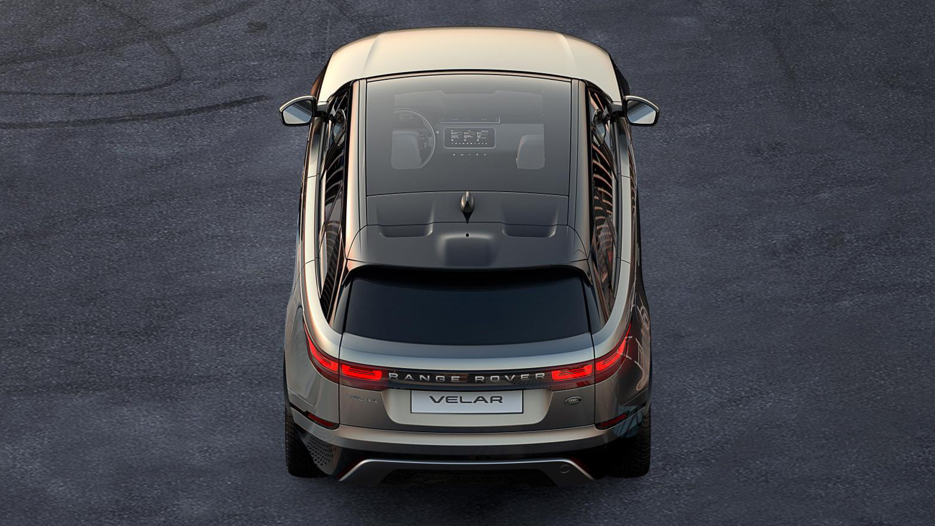 Teaser for Land Rover Range Rover Velar debuting at 2017 Geneva auto show