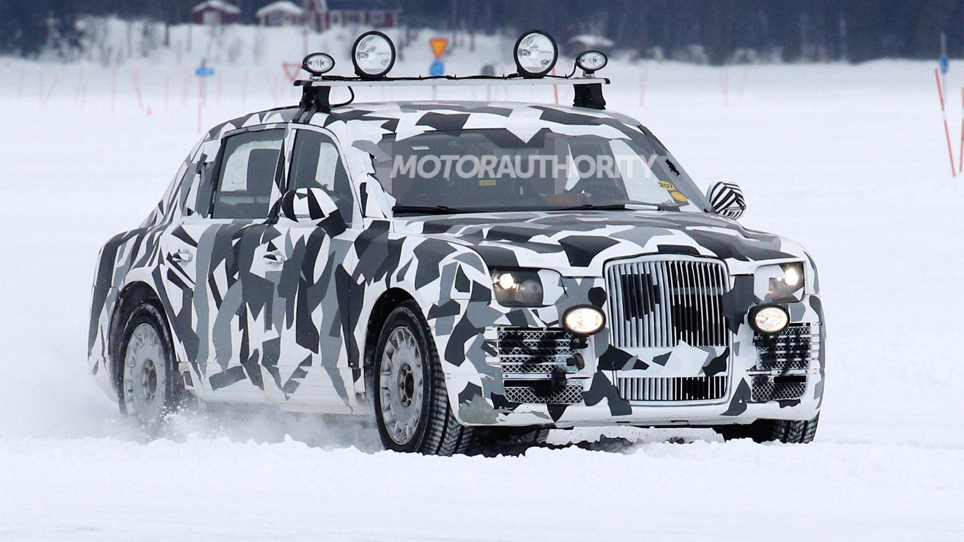 Russian presidential limo (Kortezh) spy shots - Image via S. Baldauf/SB-Medien