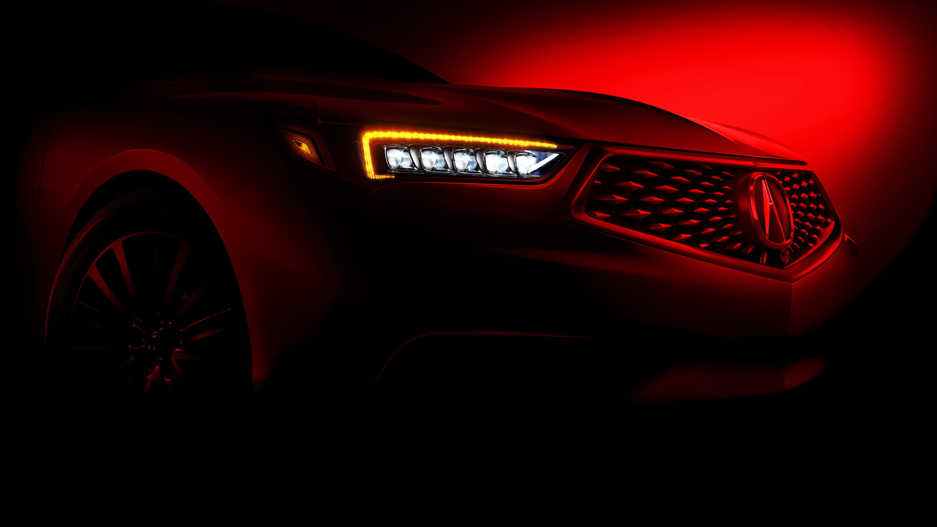 Teaser for 2018 Acura TLX debuting at 2017 New York auto show
