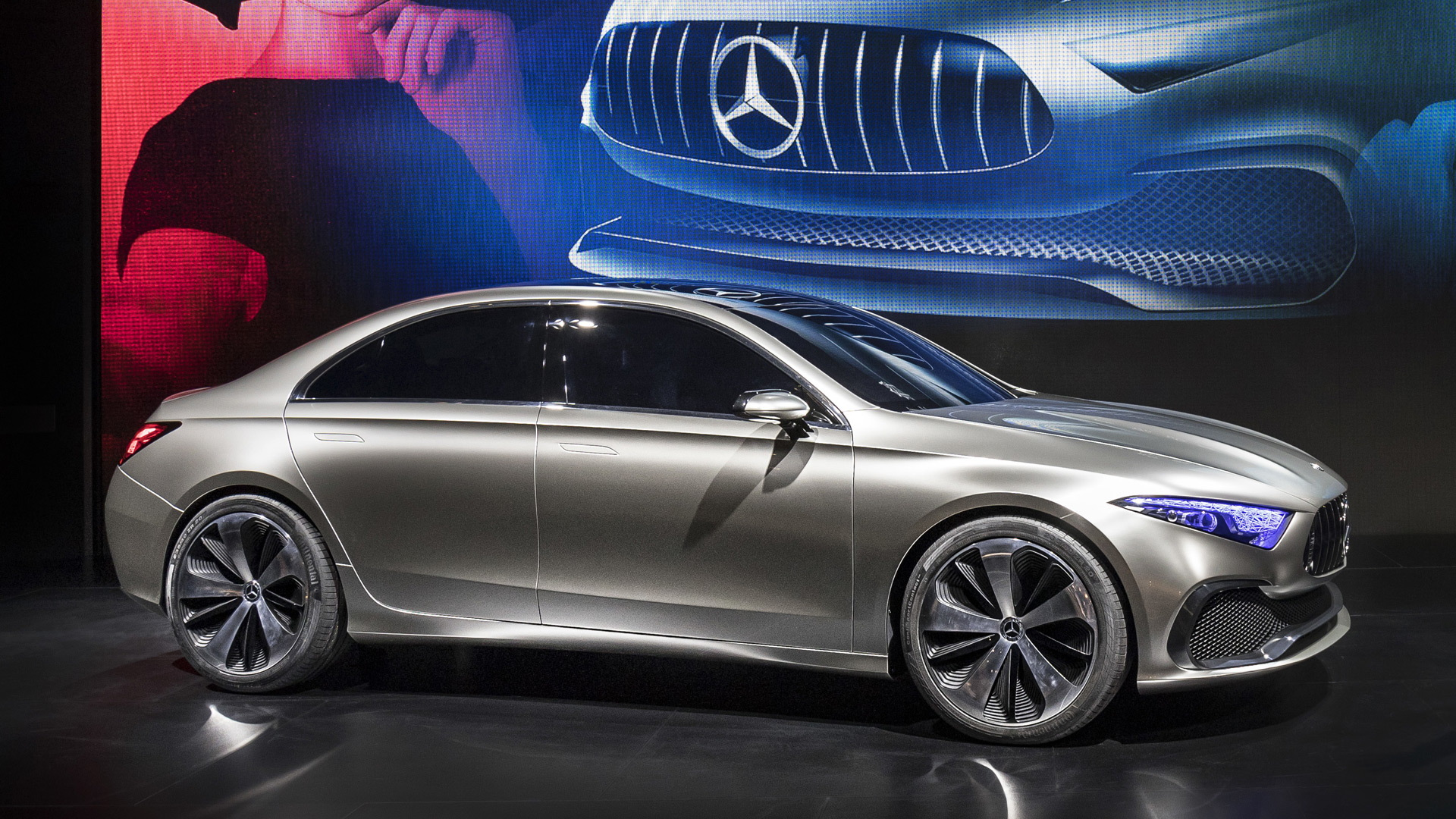 mercedes benz a class sedan previewed by concept in shanghai
